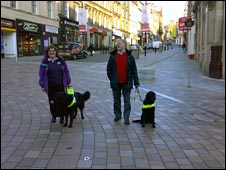 Guide dog users in Stirling. Pic sent in by Eric Smith