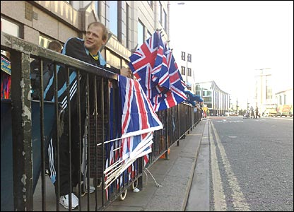 Union Flag seller, Mansion House