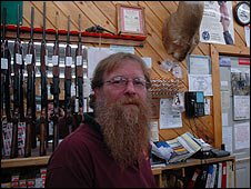 Rick Lozier, manager of a hunting and fishing store in Brewer, Maine