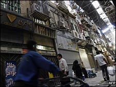 Closed shops in Tehran's Bazaar