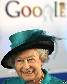 Queen Elizabeth II at Google's headquarters
