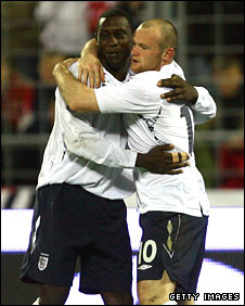 Emile Heskey and Wayne Rooney