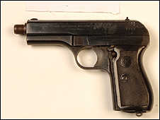 The gun which killed Mr Wanogho