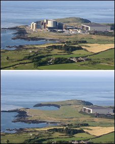 Wylfa - before & after (Pic: Magnox Electric)