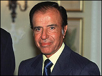 Carlos Menem, ex presidente argentino. (Foto de archivo)