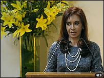 Cristina Fern�ndez de Kirchner.