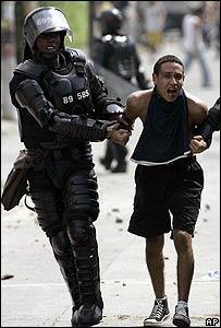 Escena durante la protesta (8.10.08)