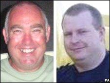 (L to R) Captain Stephen Potton and co-pilot Simon Foddering