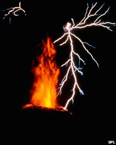 Lightning and eruption of Anak Krakatau (SPL)