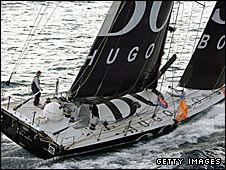 Alex Thomson on board Hugo Boss