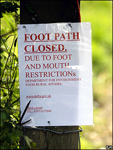 Foot-and-mouth sign (Image: PA)