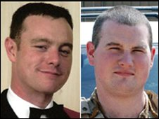 L/Sgt Chris Casey and L/Cpl Kirk Redpath
