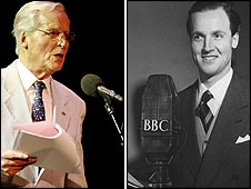Nicholas Parsons now and in 1954