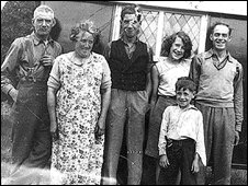 Left to right: John Marshall, Isabella Marshall, Alex Marshall; Bella Marshall; Thomas Marshall;  front: youngest brother Stanley Marshall