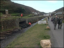 Boscastle flood Defences