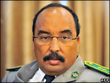 Maj-Gen Mohamed Ould Abdelaziz (file)