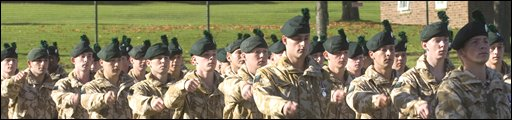 RIR soldiers at the medal parade - pic MOD