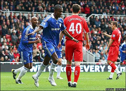 Chelsea's Salomon Kalou celebrates