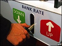 Bank rate interactive feature at the Bank of England Museum (credit: Carl de Souza/Getty Images)