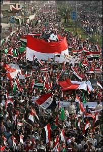 Marcha de seguidores chiítas de Moqtada Sadr en Bagdad