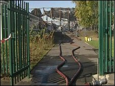 Carleton High School after the fire
