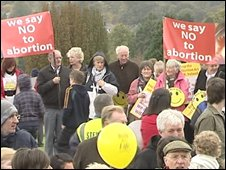Stormont anti-abortion rally