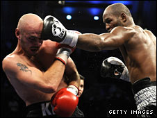 Kelly Pavlik and Bernard Hopkins