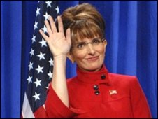 Tina Fey as Sarah Palin on Satrurday Night Live