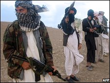 Taleban fighters in Afghanistan (image from September 2008)
