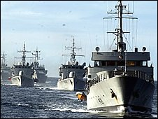 Flotilla of ships