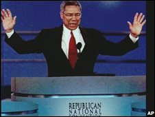 Colin Powell at the Republican National Convention, 1996
