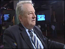 Lord Elis Thomas, before his interview for the BBC Politics Show