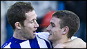 Frazer Wright and Craig Bryson celebrate Kilmarnock's late win