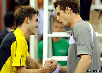 Gilles Simon and Andy Murray