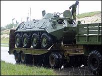 Vehículos blindados de fabricación rusa en Cuba