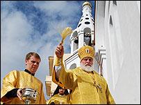 Autoridades de la iglesia orotodoxa rusa consagran una iglesia en Cuba