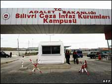 Gate to Silivri district prison in Istanbul