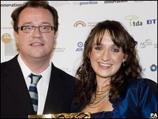 Doctor Who writer Russell T Davies and Natalie Richards