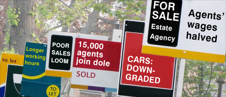 Graphic of For Sale signs