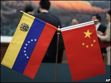Flags of Venezuela and China