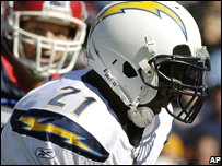 LaDainian Tomlinson plays for San Diego at Wembley