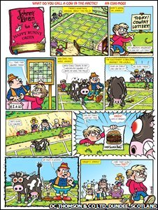 Johnny Bean cartoon strip from the Beano
