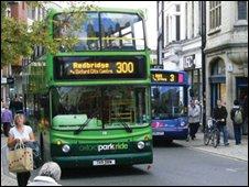 Buses in Queen street