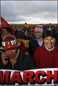 Marcha hacia La Paz encabezada por Evo Morales