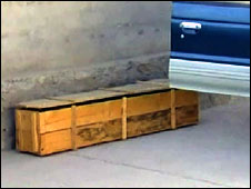 Gayle Williams's coffin