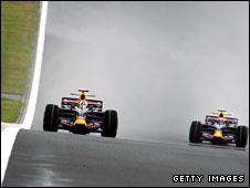 Mark Webber in his Red Bull car
