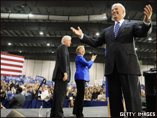 Joe Biden in Scranton with the Clintons