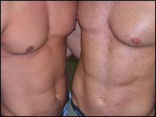 Men's stomachs