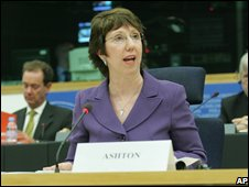 Baroness Ashton before the European Trade Committee