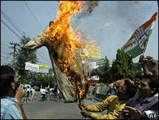 Protests against Mr Thackeray in northern India